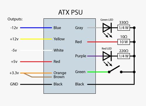 atx wire diagram