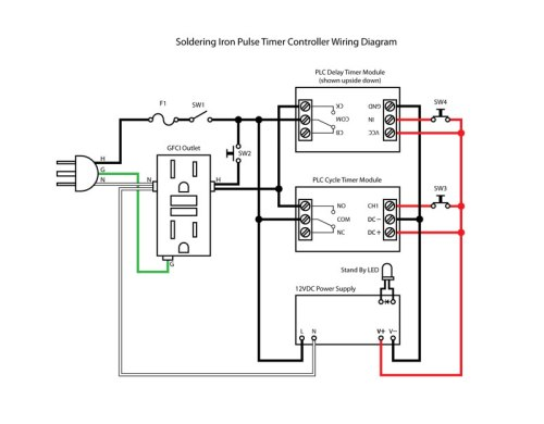 plc cycle timer circuit test board