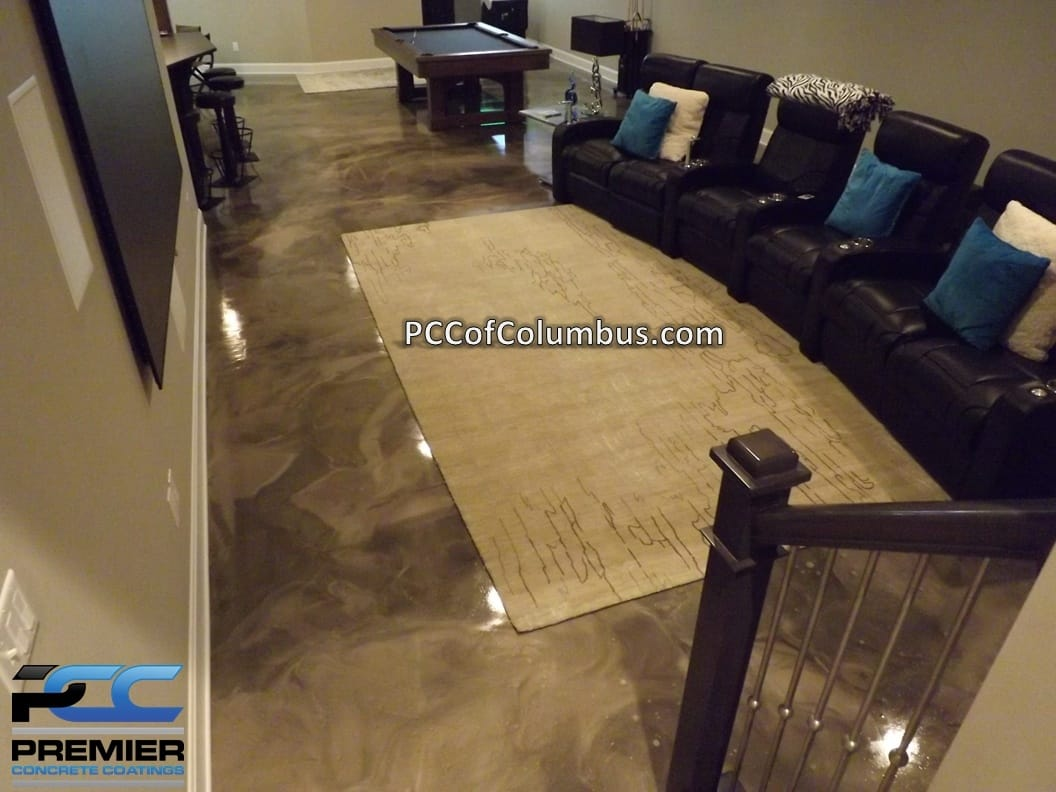 Garage Floor Epoxy Options Basement Flooring Options Epoxy Finish Epoxy Flooring Pcc