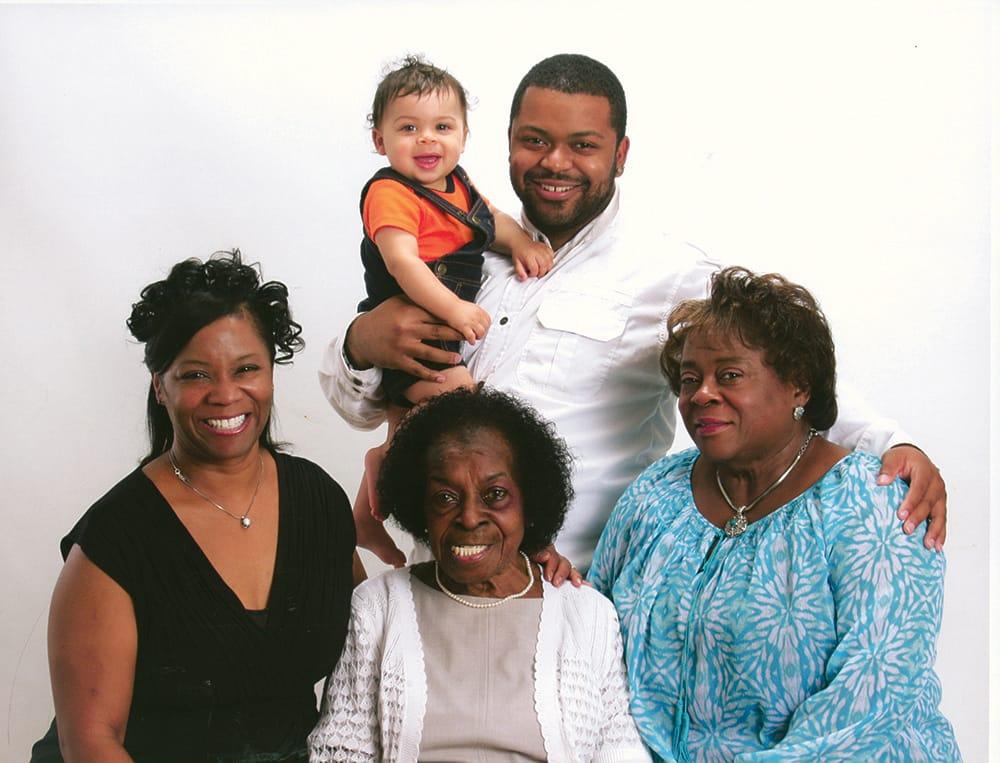5-generations Jackson family The Columbian - 5 generations