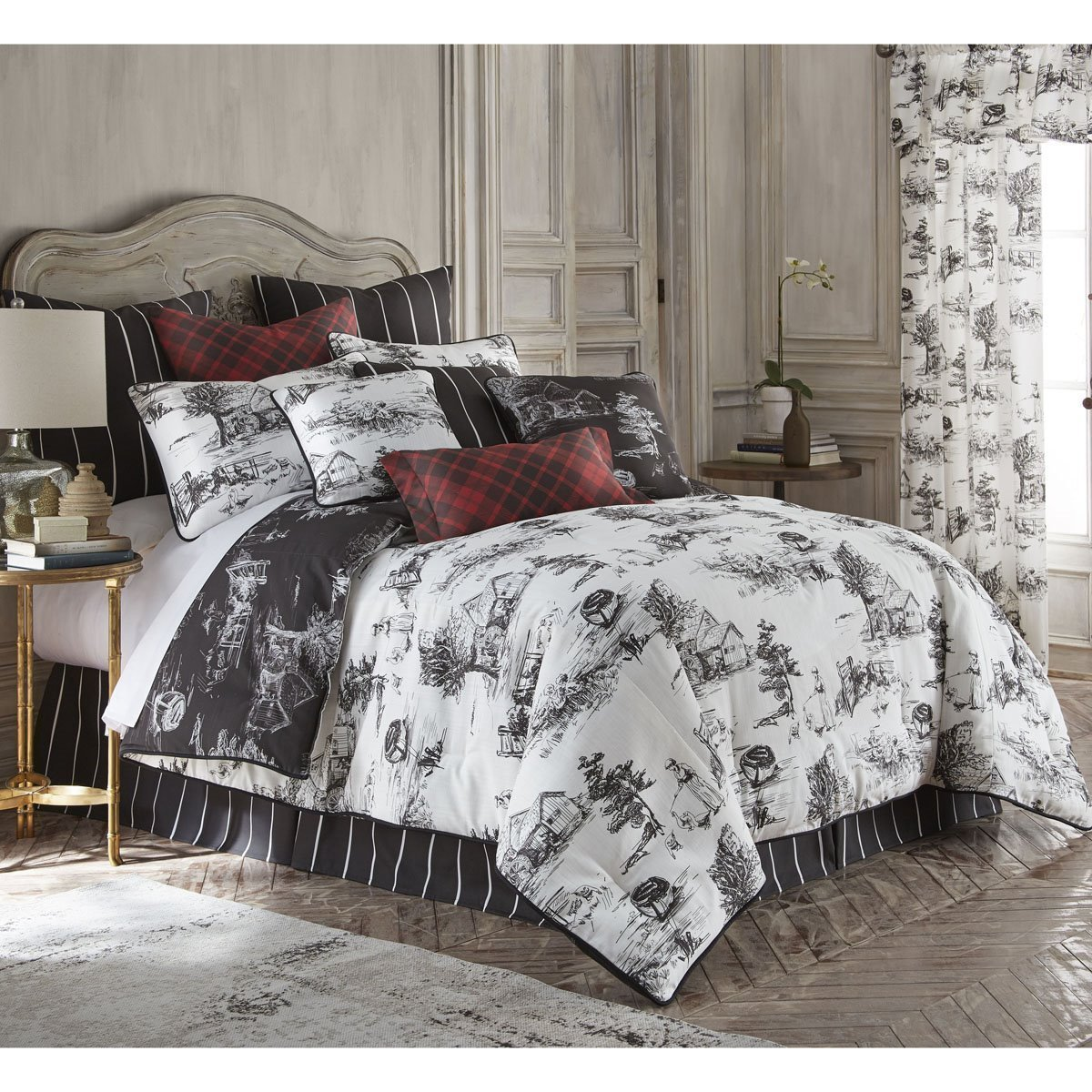 Toile Duvet Cover Toile Back In Black Reversible Duvet Cover Set Twin By