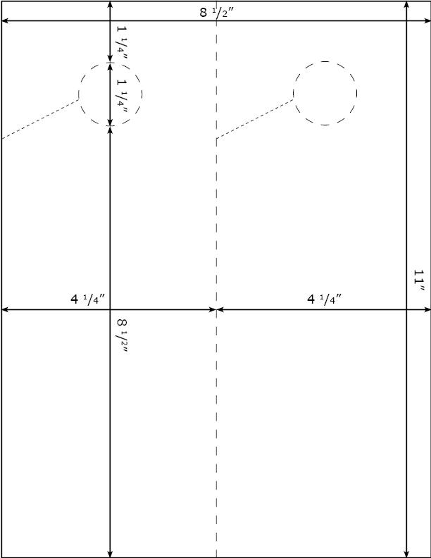Burris 2 Per Page Door Hanger Template for Microsoft Word - door hanger template