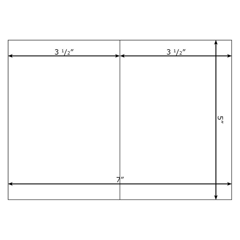 Blank Greeting Cards 5x7 - sample 5x7 envelope template