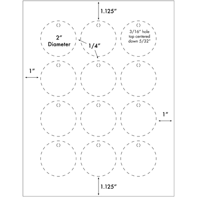 12UP 2 inch circle hang tags Gift Tags - circle template