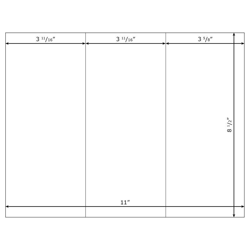 Trifold Brochures (Middleweight) Compatible with Xerox Phaser - tri fold mailer template