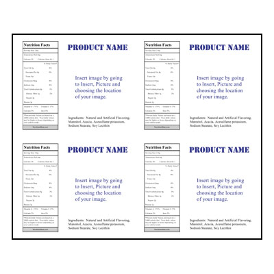 Label Sheet LLS-4X5 4UP Jar Template for Microsoft Publisher