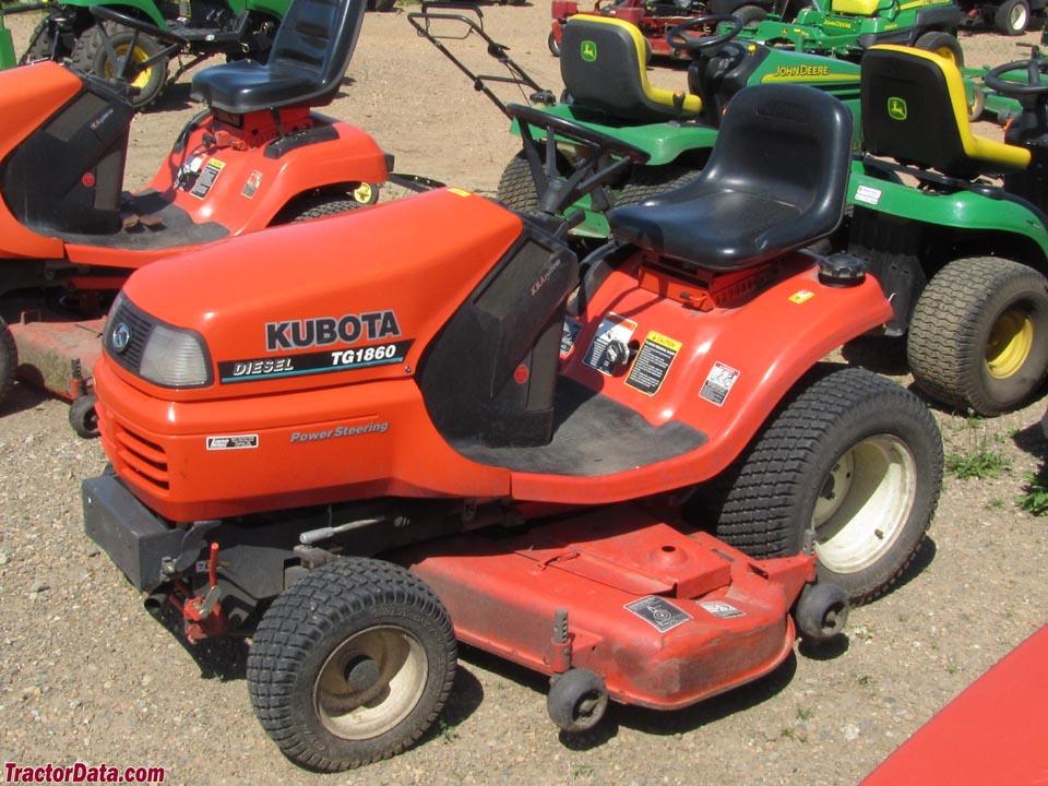 Kubota Tg1860g Lawn Tractor Kubota Lawn Tractors Kubota Lawn