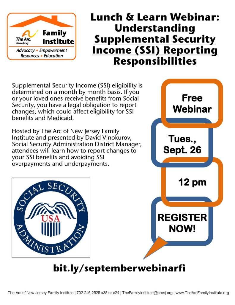 Arc of NJ Understanding Supplemental Income Reporting Respo