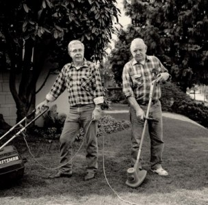 Gary Grenell, Men with Lawn Tools, 1995