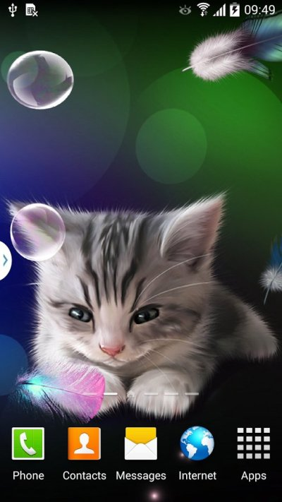 Sleepy Kitten Live Wallpaper скачать 1.0.2 на Android