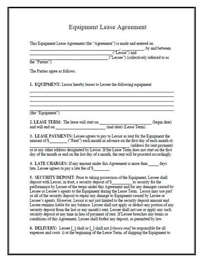 Free Rent and Lease Templates