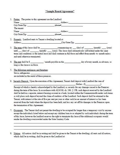 Download Rental Agreement for free