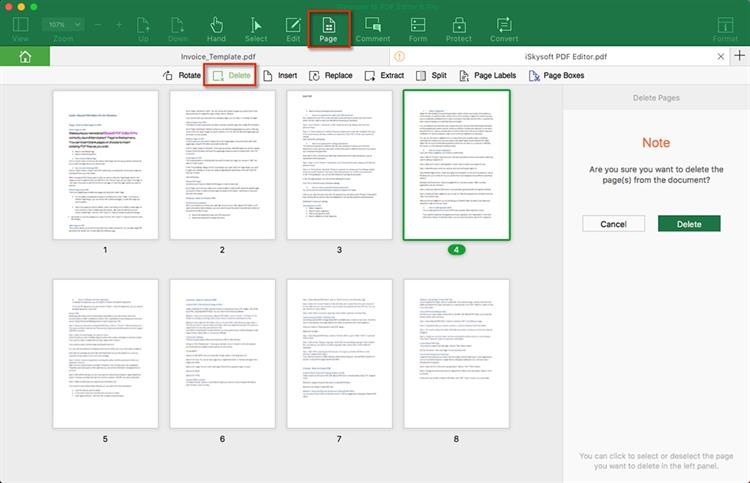How Can You Delete Pages from PDF? Solved! - pages invoice template