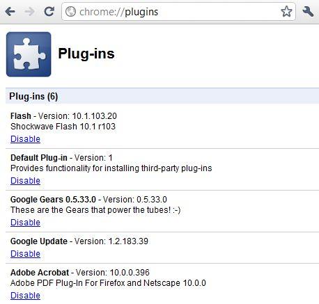 plugins in chrome