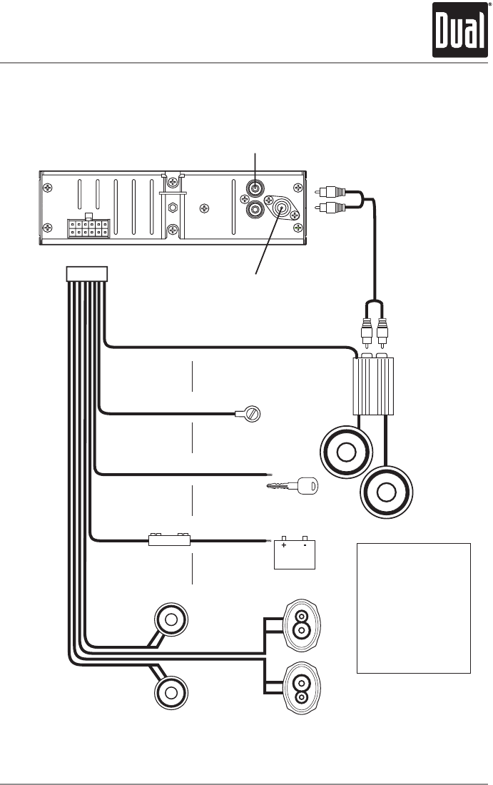 clarion car stereo wiring diagram rca