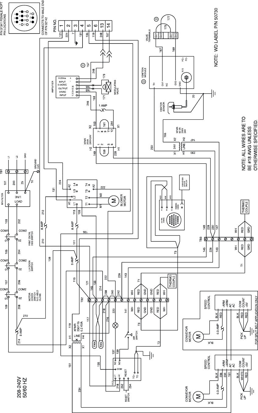 blodgett convection oven wiring diagram