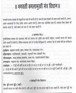 बगलामुखी मन्त्र विधान हिंदी पुस्तक मुफ्त पीडीऍफ़ डाउनलोड कीजिये | Baglamukhi Mantra Vidhan Hindi Book Free PDF Download