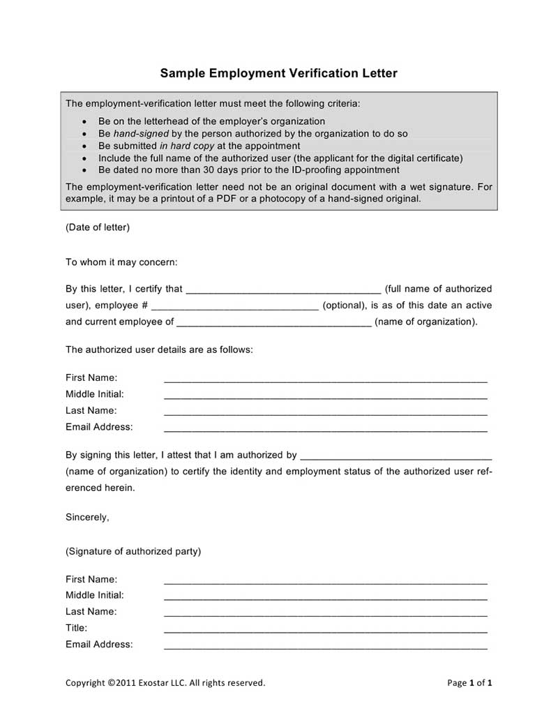 Employment Verification Form Sample template for face mask vehicle – Previous Employment Verification Letter