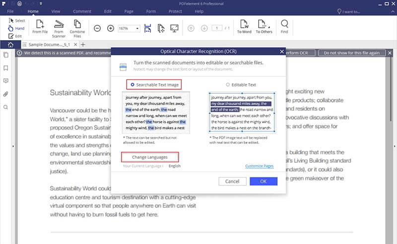 How to Convert PDF to Searchable PDF Wondershare PDFelement