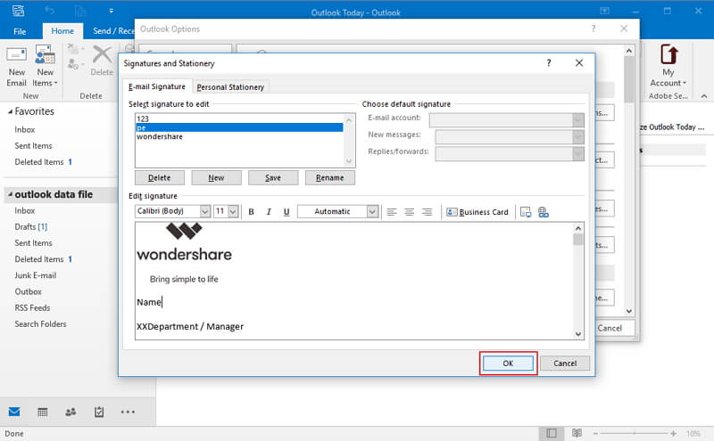 How to Add Logo to Email Signature in Outlook Wondershare PDFelement