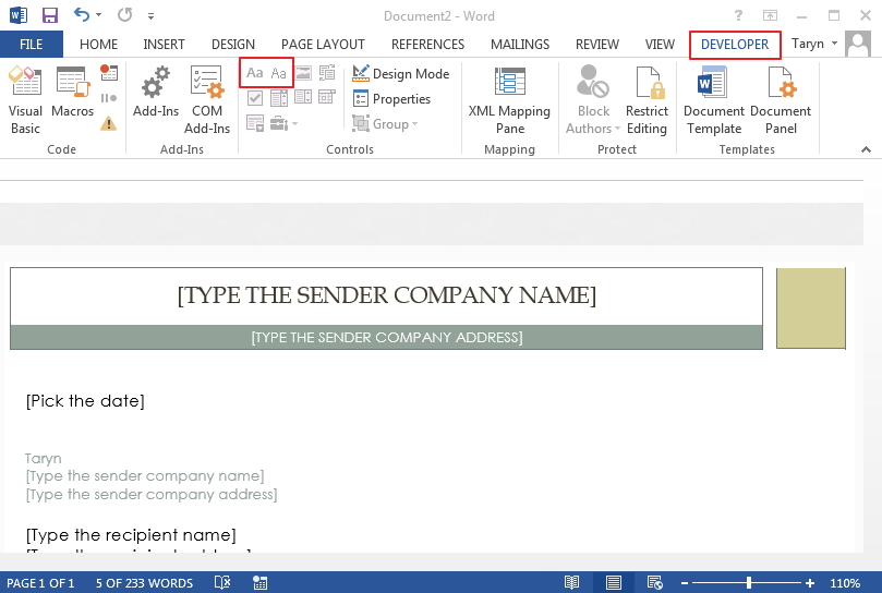 Simple Steps to Create Word Form Template Wondershare PDFelement