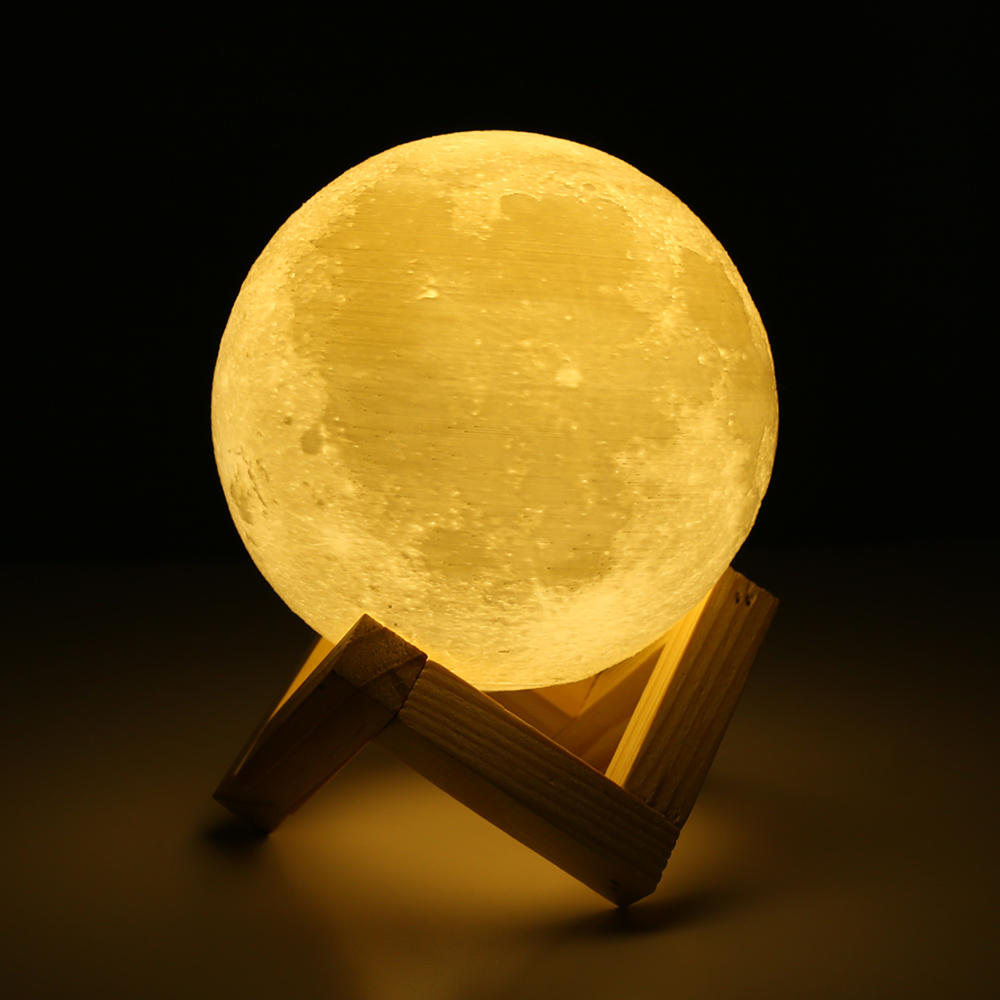 3d Magical Led Luna Night Light Moon Lamp Desk Usb Charging Touch Control Gift Ebay - Stoere Nachtlamp