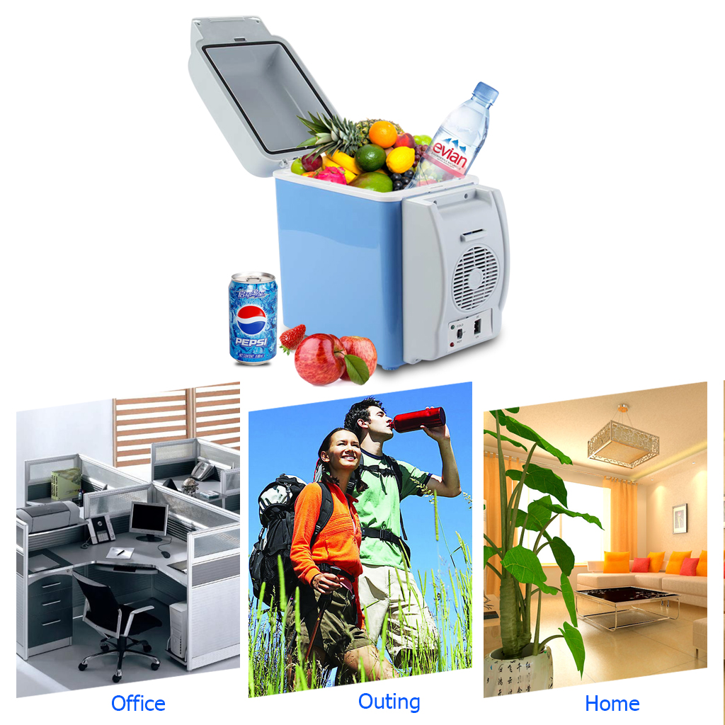 Small Portable Fridge Details About 7 5l 12v Mini Fridge Cooler Warmer Car Small Refrigerator Electric Cooler Icebox