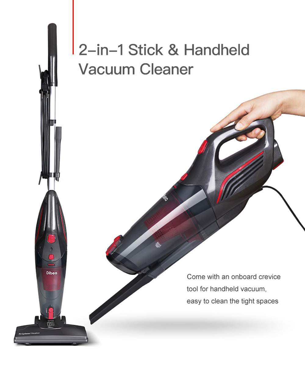 Carpet Cleaning Vacuum Details About Dibea 2 In 1 Cord Handheld Stick Vacuum Cleaner Dust Floor Carpet Cleaning 15kpa