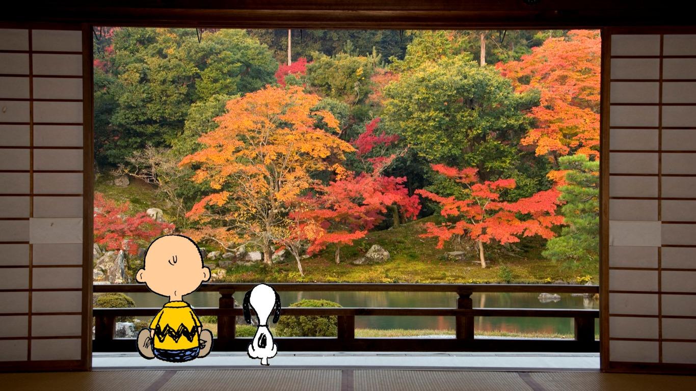 Snoopy Fall Wallpaper スヌーピーの壁紙 2011 11 スヌーピー日記