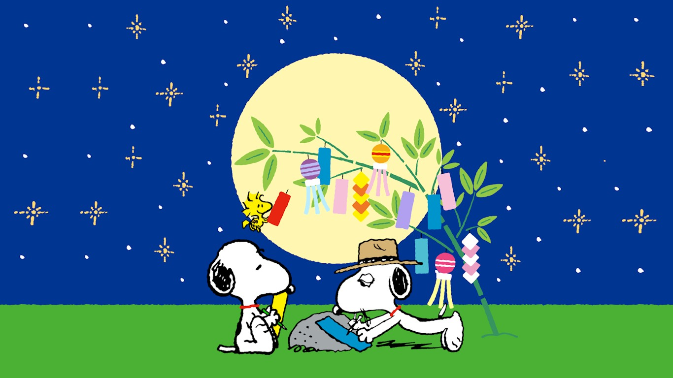 Snoopy Fall Wallpaper 2014年7月の壁紙 スヌーピー日記