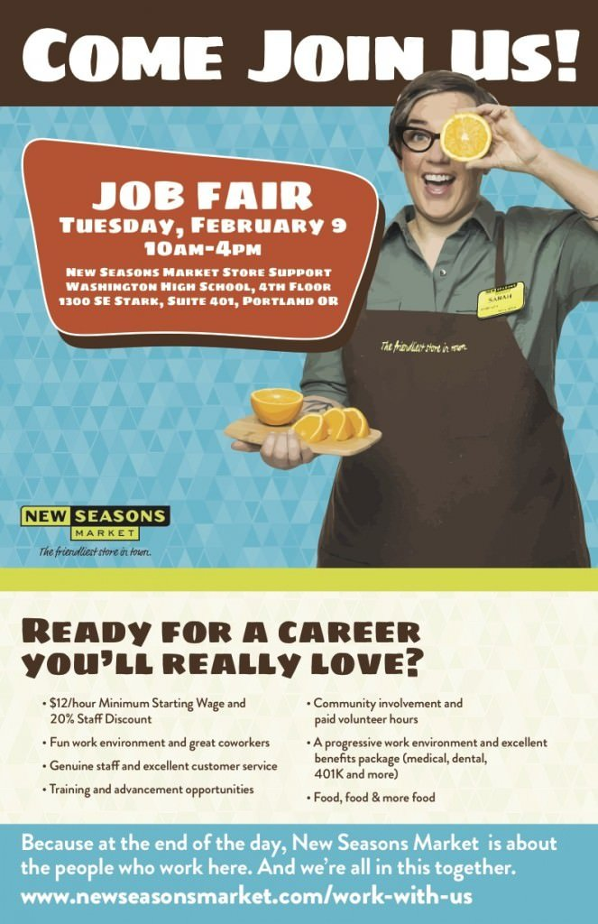 New Seasons Job Fair Next Week @ Washington High School Full