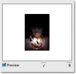 Você pode facilmente mover fontes de luz em torno clicando no círculo no centro deles e arrastando com o mouse.