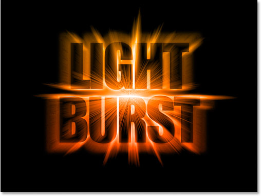 Colorful Light Burst Text In Photoshop