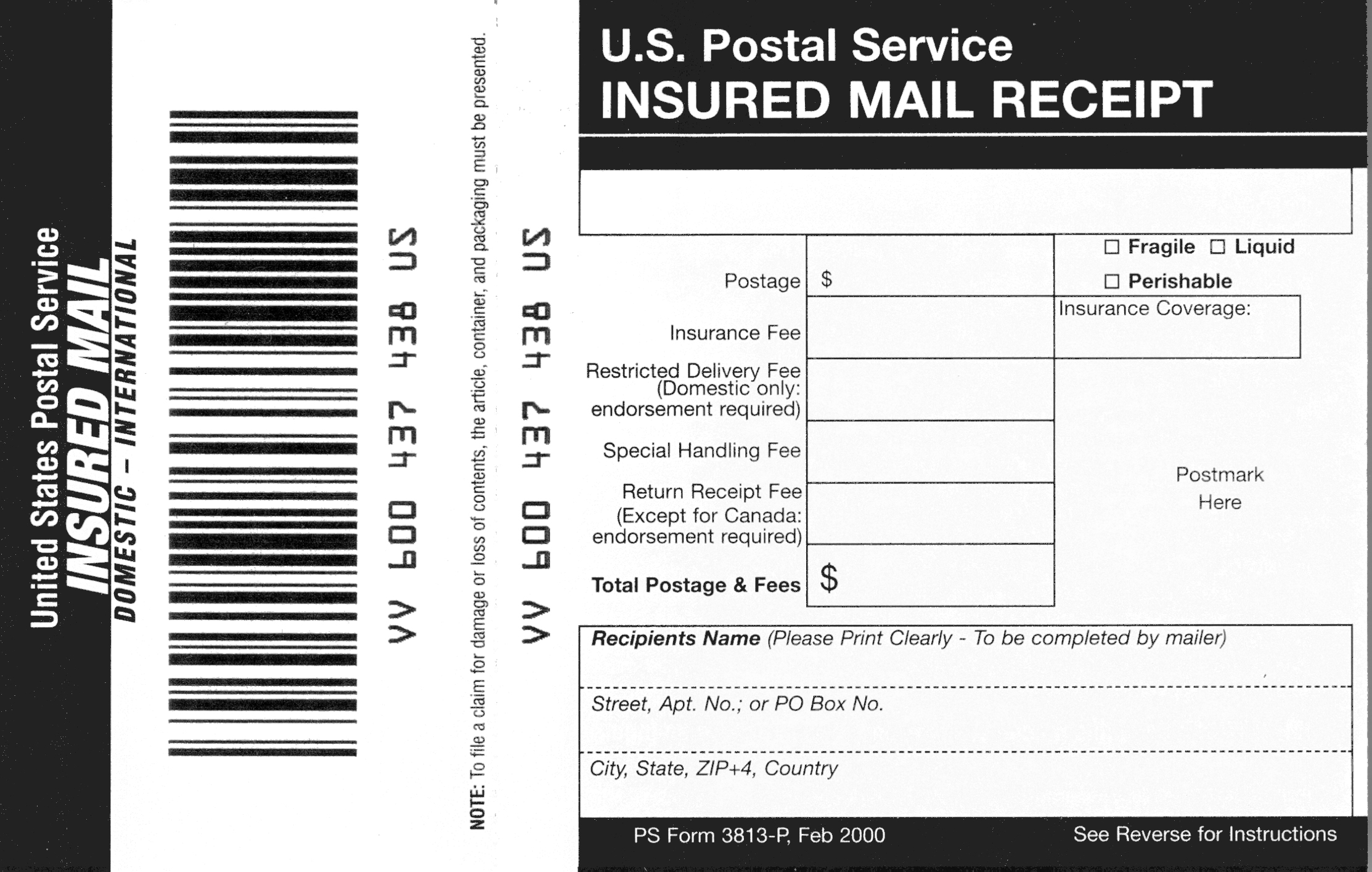 Domestic Mail Manual S913 Insured Mail