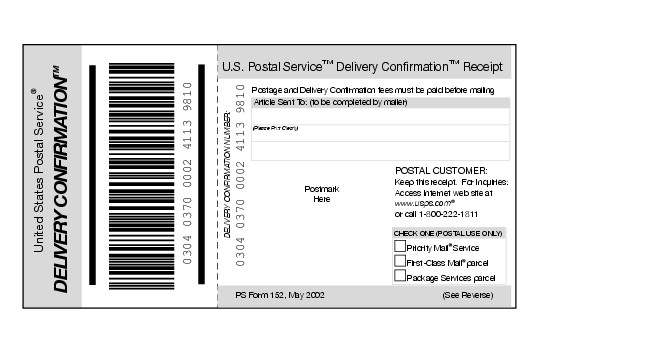 delivery confirmation receipt template - Jolivibramusic