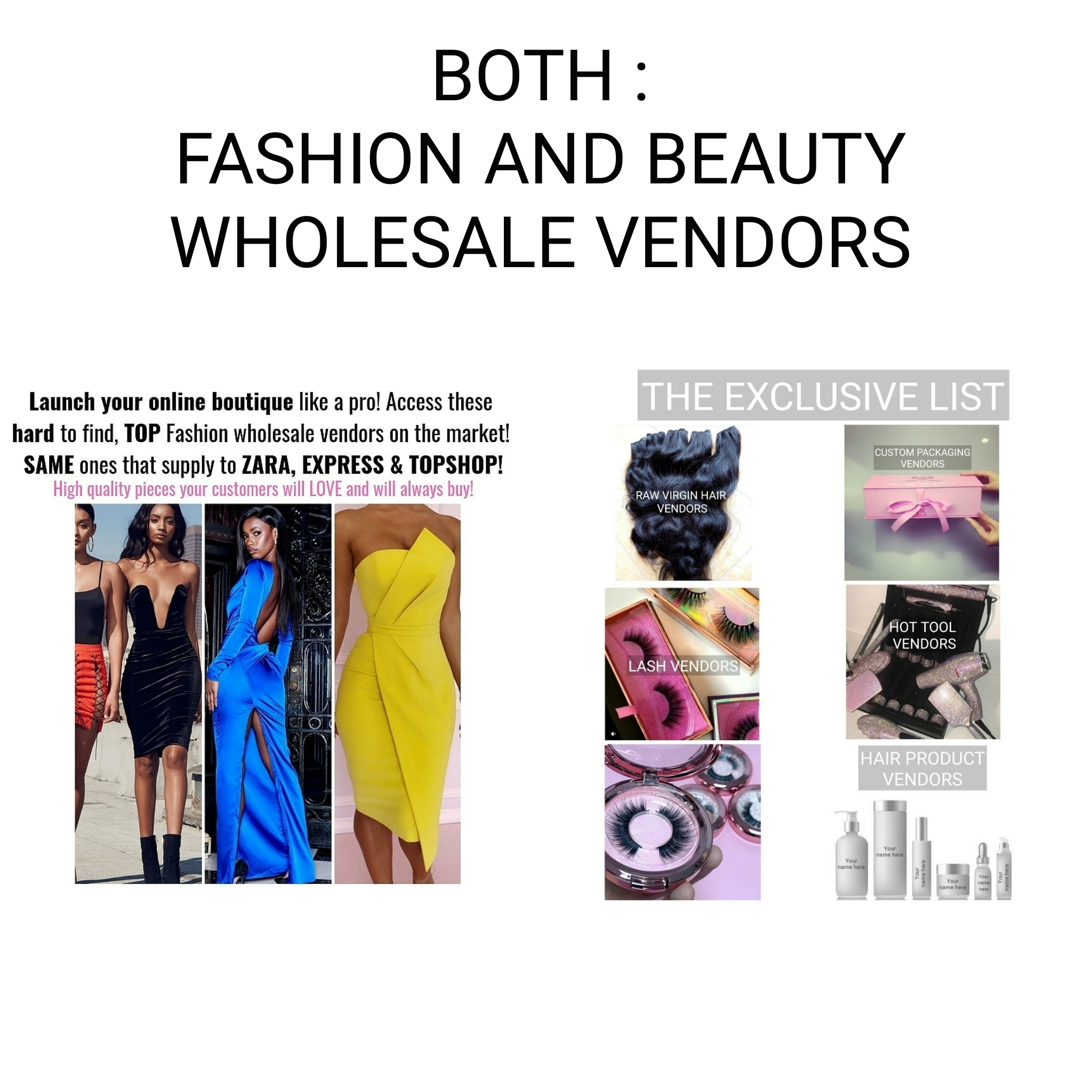 Wholesale Beauty Vendors Both Lists Fashion And Hair Beauty