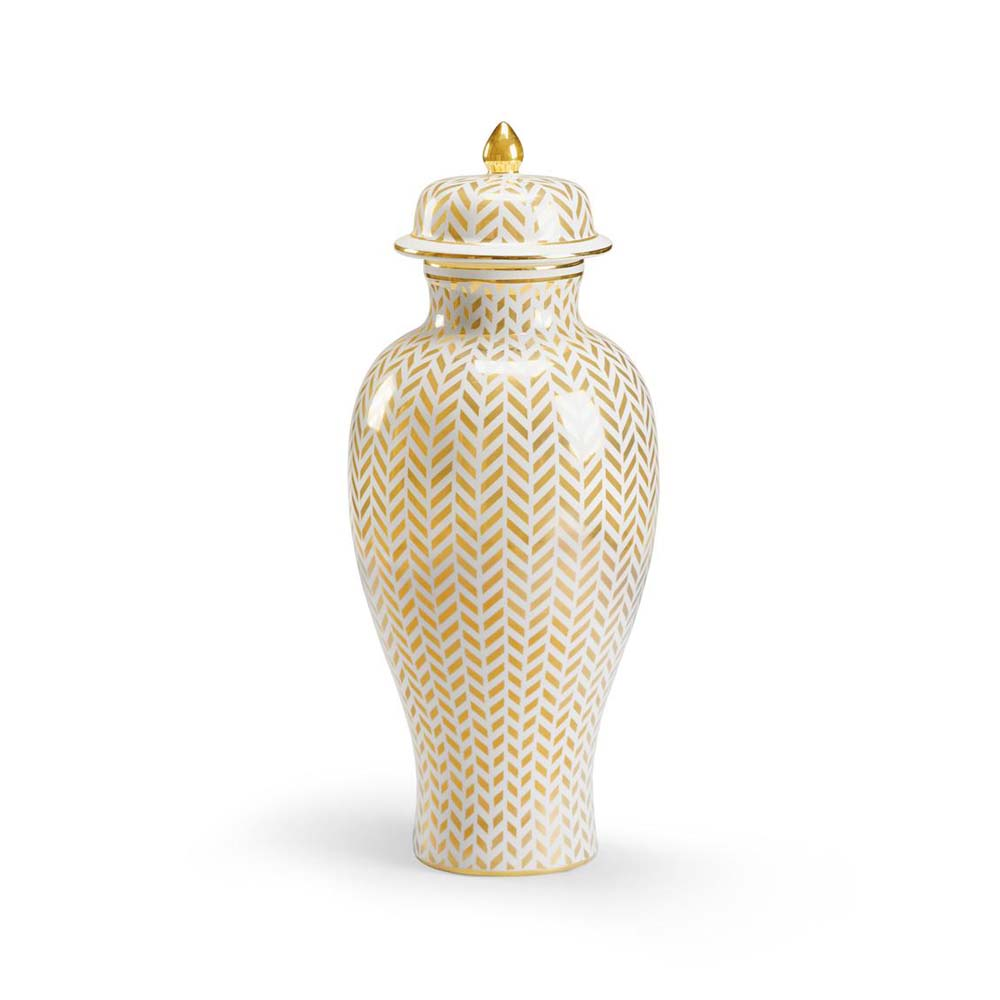 Vase Gold Chelsea House Home Herringbone Vase Gold
