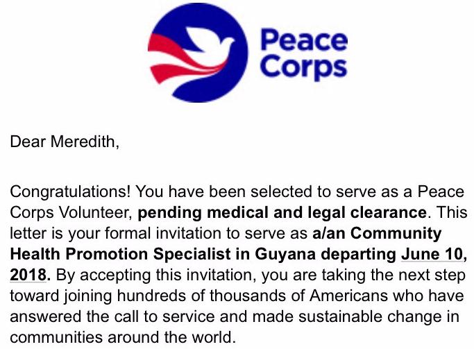 My Peace Corps Timeline \u2013 Peace of Guyana