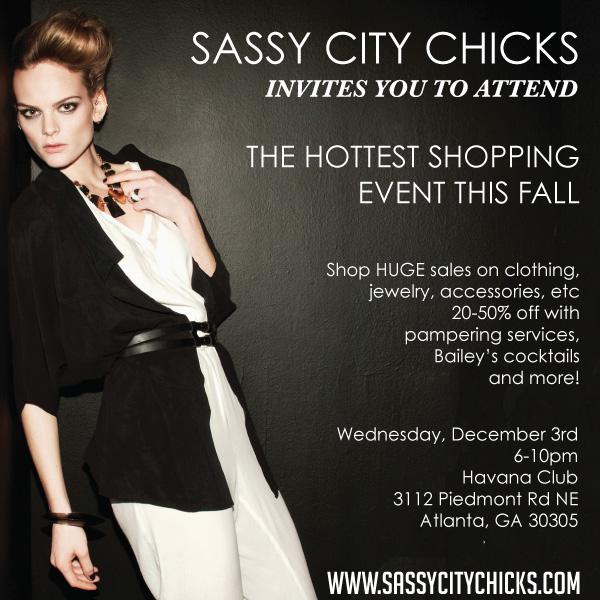 Sassy City Chicks Invite