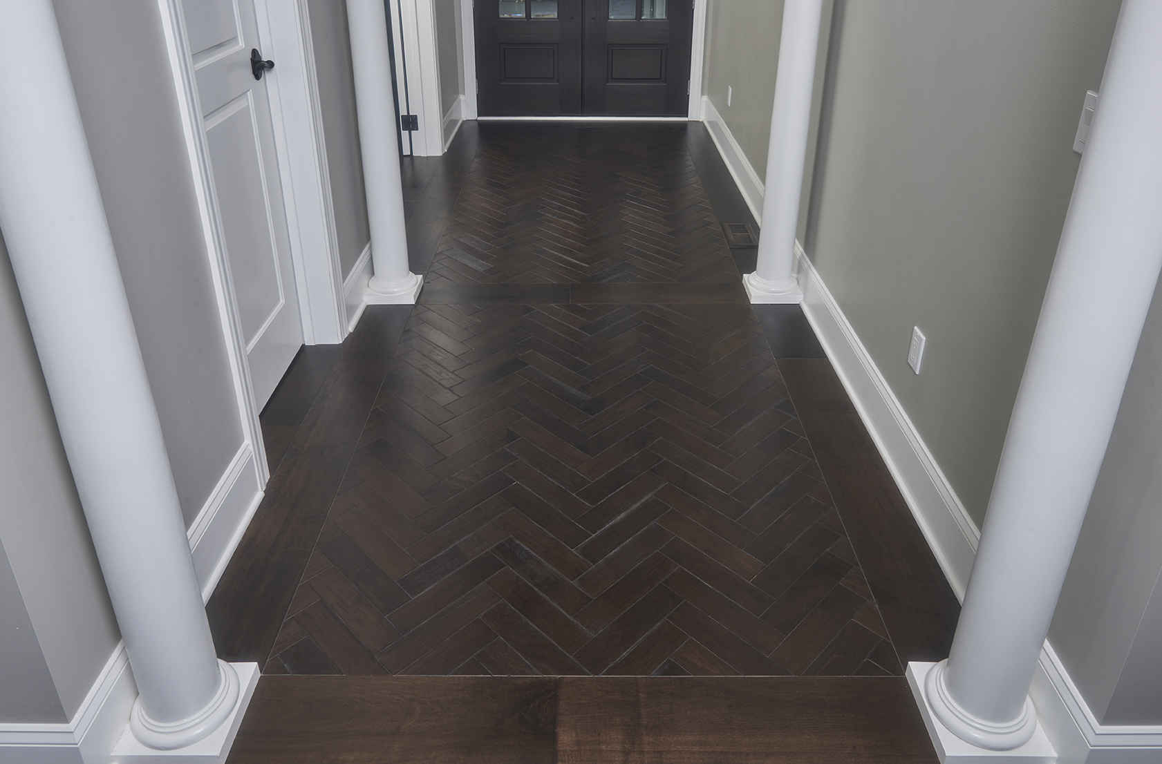 Floor Wire Molding Northern Ohio Transitional Home Peachey Hardwood Flooring