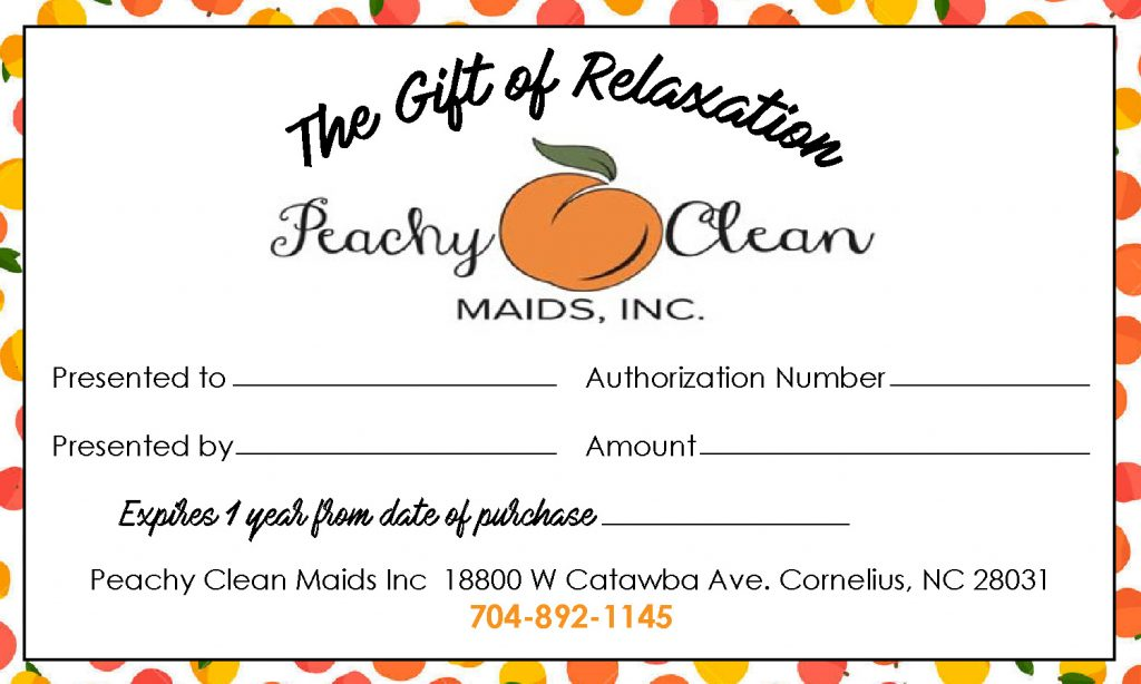 Gift Certificates - Peachy Clean Maids