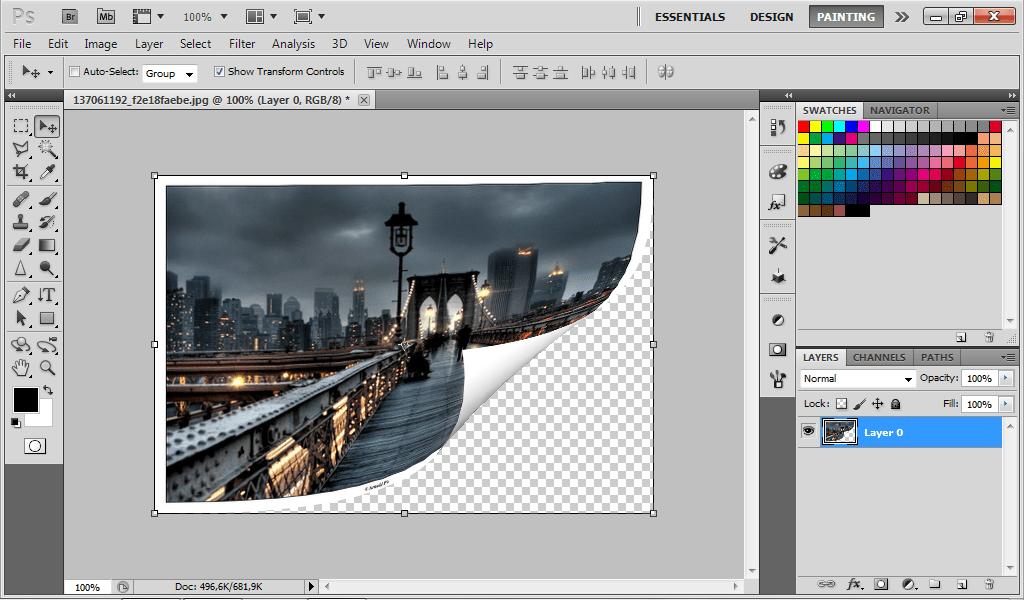 Tutorial Photoshop Cara Membuat Efek Gulungan Menggunakan Photoshop