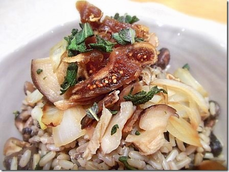 Mushroom Onion and Fig Brown Rice Pilaf (13)