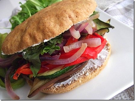 roasted vegetable and goats cheese spelt sub (26)