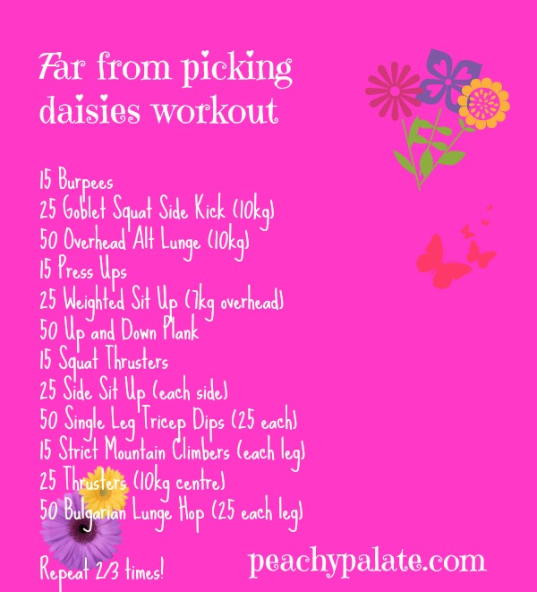 Far from picking daisies workout