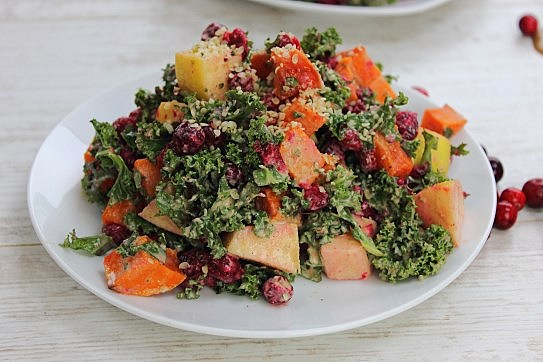 Cranberry Apple Kale Salad (11)
