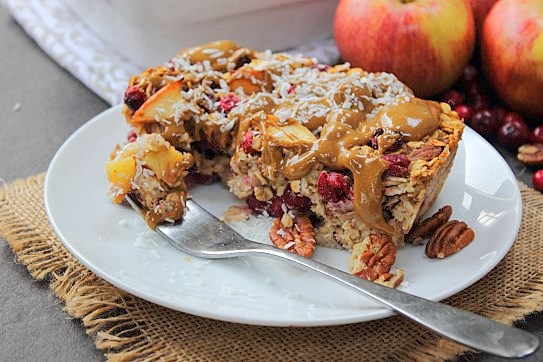 Cranberry Apple Pecan Baked Oats (31)