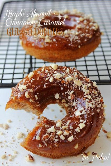 Paleo Almond Vanilla Maple Donuts Title