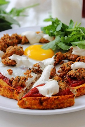 Breakfast Sausage and Egg Pizza (20)