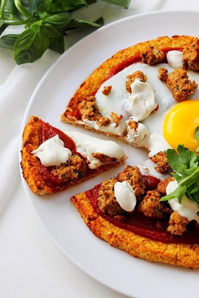 Breakfast Sausage and Egg Pizza (32)